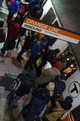 Orange Line Crowd