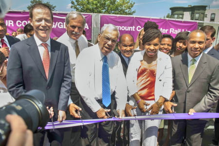Fairmount Four Corners MBTA ribboncutting
